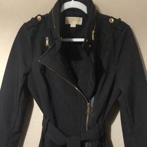 Michael Kors short trench coat